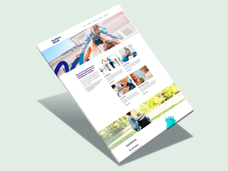 Southern Rehab Website Design Auckland